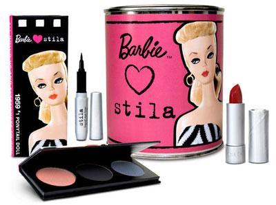 *Stila Barbie Set, Palette, Eyeshadows, liquid liner, blusher & Lipstick